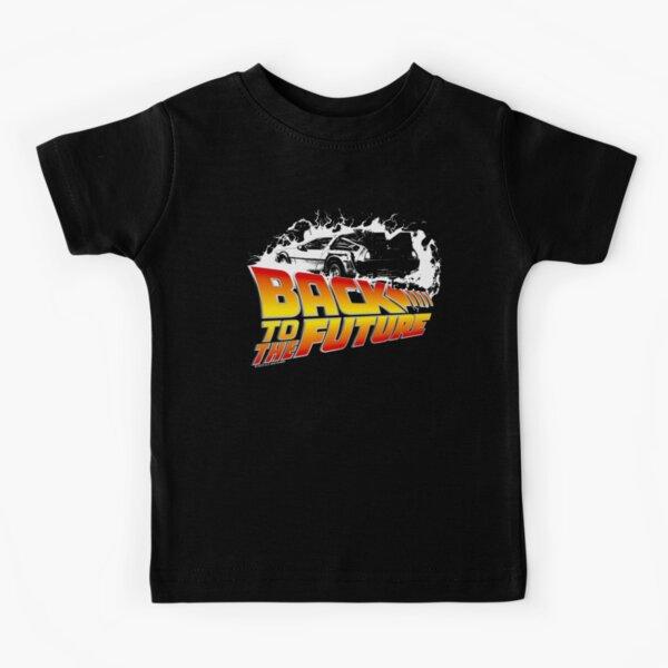 Back to the Future - DeLorean White Stencil Fan Art Kids T-Shirt