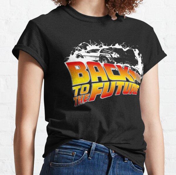Retour vers le futur - DeLorean White Stencil Fan Art T-shirt classique