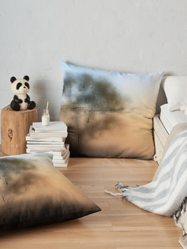 Alternate view of Meet Me At The Old Foggy Tree Floor Pillow