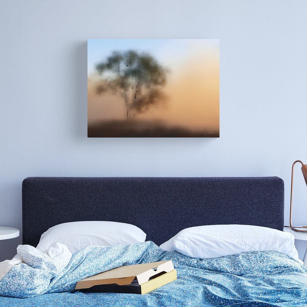 Meet Me At The Old Foggy Tree Canvas Print