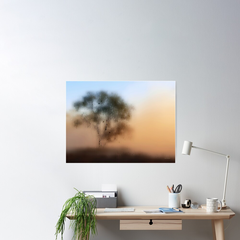 Meet Me At The Old Foggy Tree Poster