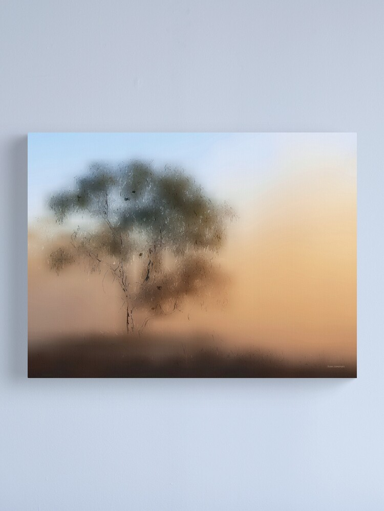 Alternate view of Meet Me At The Old Foggy Tree Canvas Print