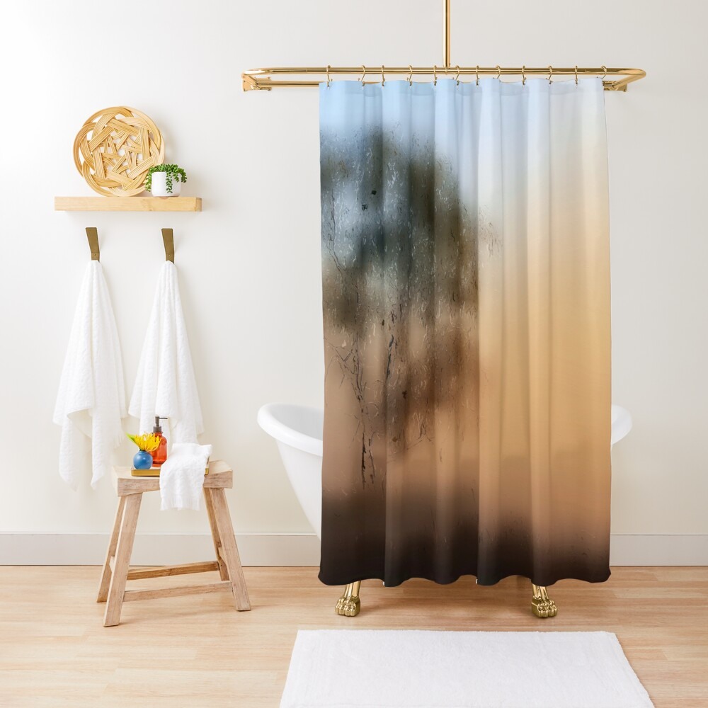 Meet Me At The Old Foggy Tree Shower Curtain