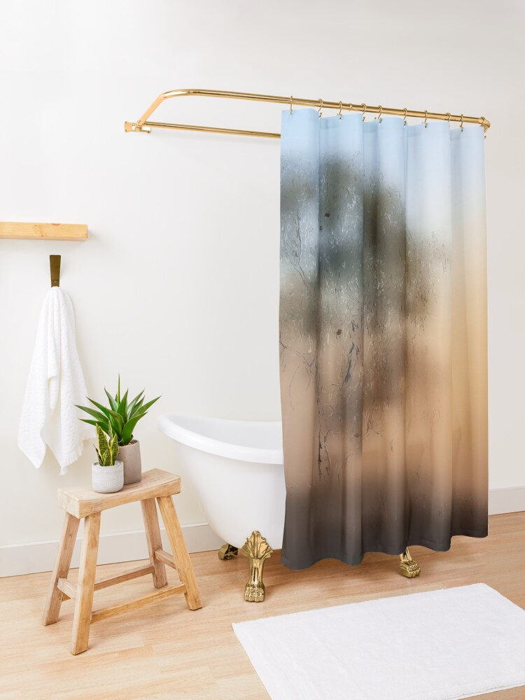Alternate view of Meet Me At The Old Foggy Tree Shower Curtain