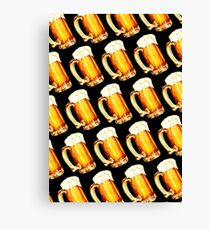 Bier Pattern Canvas Print