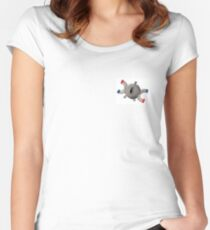 Pokémon Magnemite watercolor illustration Women's Fitted Scoop T-Shirt