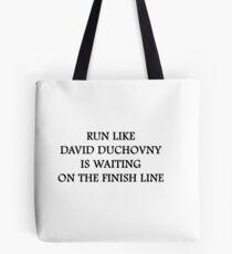 Run like David Duchovny Tote Bag