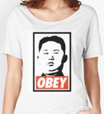 OBEY - KIM JONG Women's Relaxed Fit T-Shirt