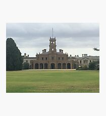 Mansion at Werribee Photographic Print
