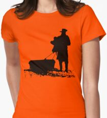 The D is silent Womens Fitted T-Shirt