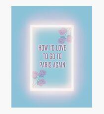 Paris again Photographic Print
