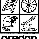 Oregon Trail Logo (scb) by Multnomah ESD Outdoor School