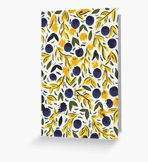 Dots Dots Leaves Leaves Greeting Card