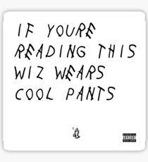 Wiz Wears Cool Pants Sticker