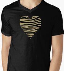 0235 Ecru or Sand Tiger Men's V-Neck T-Shirt