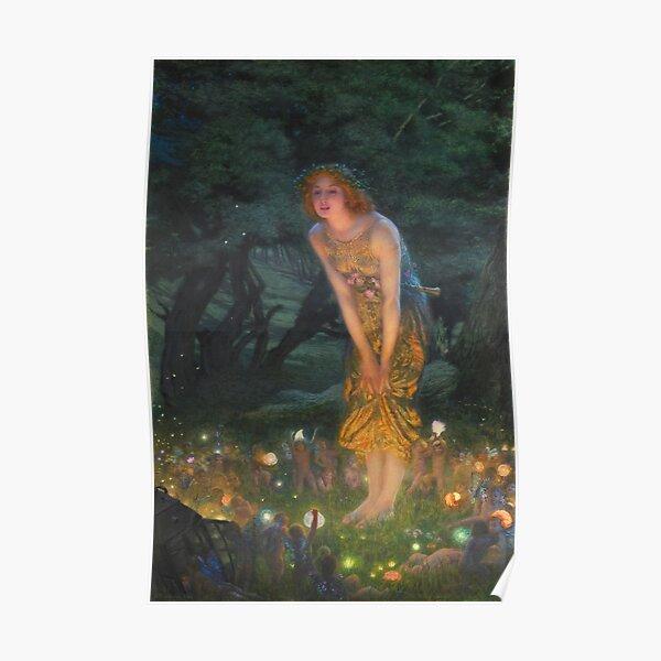 Edward Robert Hughes - Midsummer Eve (1908) Poster