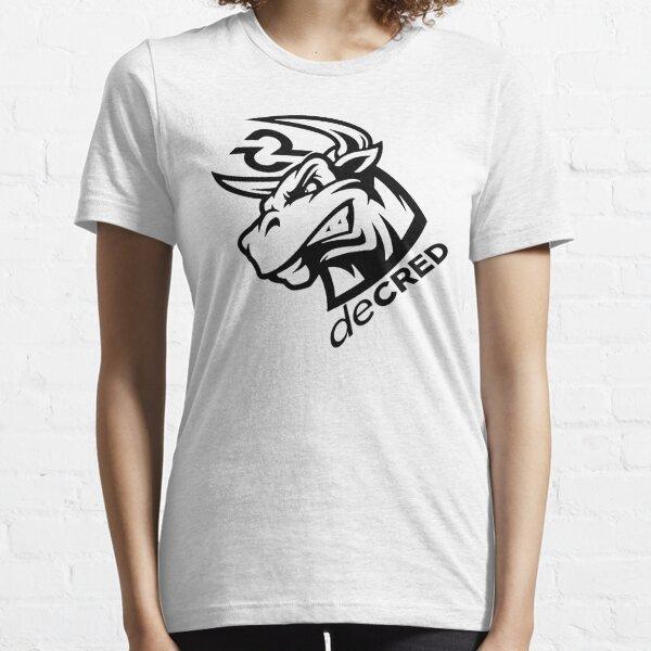 Decred Bull rage ™ v1 'Design timestamped by https://timestamp.decred.org/' Essential T-Shirt