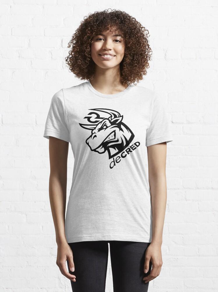 Alternate view of Decred bull rage v1 Essential T-Shirt
