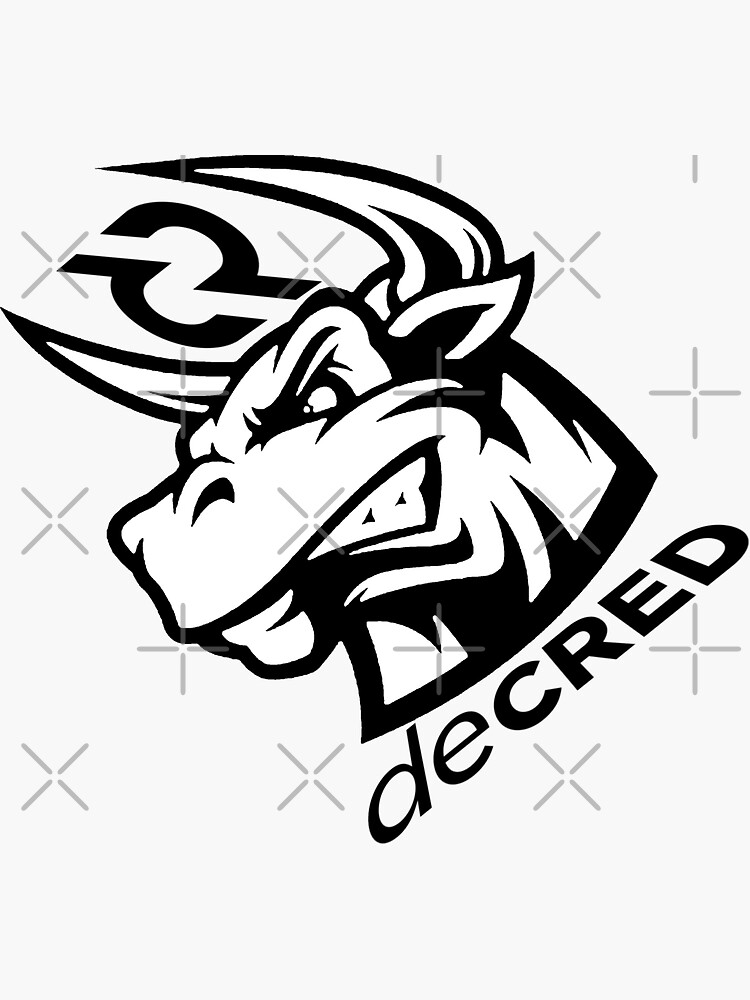 (sticker) Decred bull rage v2 by OfficialCryptos