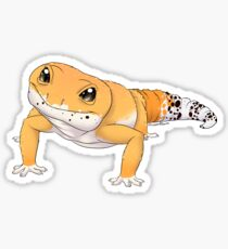 Pegatina Tangerine Leopard Gecko