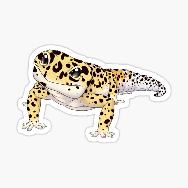 Gecko léopard Sticker