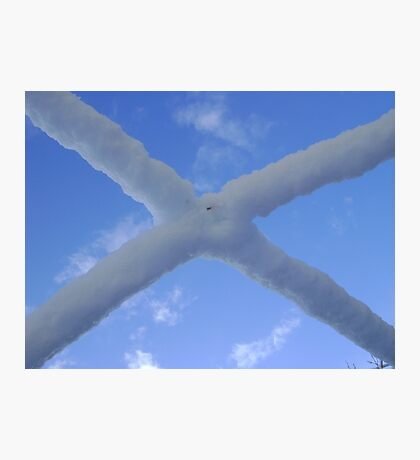 Saltire (snow and Scottish sky) Photographic Print