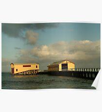 Joe Mortelliti Gallery - Queenscliff pier, Bellarine Peninsula, Victoria, Australia. Poster