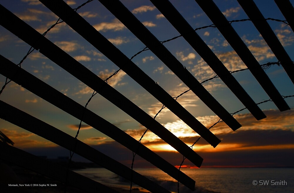 Sand Fence View | Montauk, New York by © Sophie W. Smith