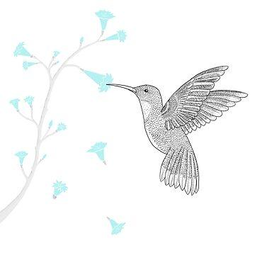 Hummingbird by mariegib