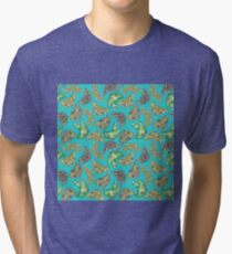 """Oro?"" Series Cactus Teal Tri-blend T-Shirt"