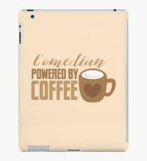 Comedian powered by COFFEE iPad Case/Skin