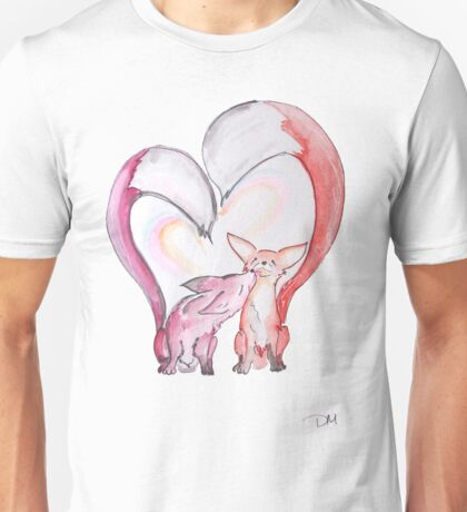 Fox Love - Kissing Foxes artwork T-Shirt