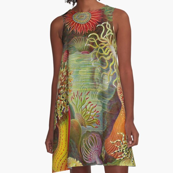 Sea anemone - Ernst Haeckel  A-Line Dress