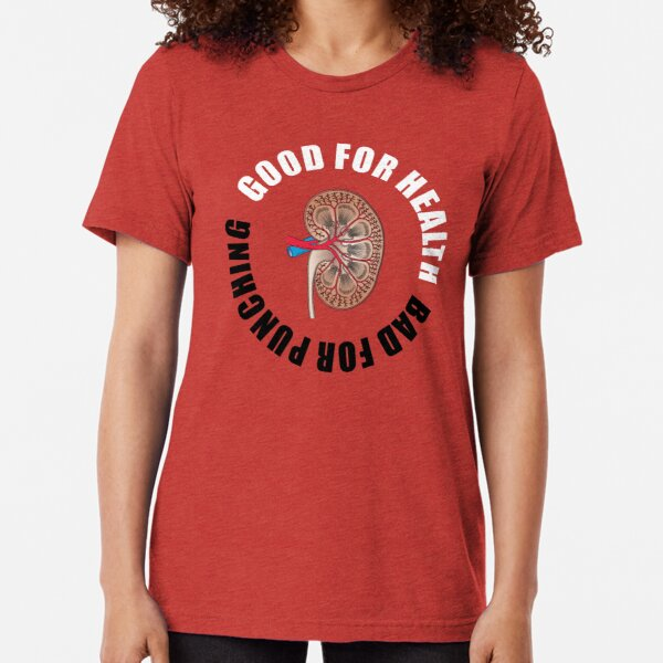 Good for health, bad for punching Tri-blend T-Shirt