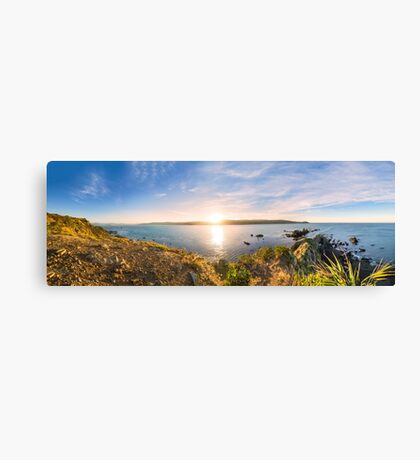 Sunrise over Wellington Harbour from the Benoit Trail above Breaker Bay Canvas Print