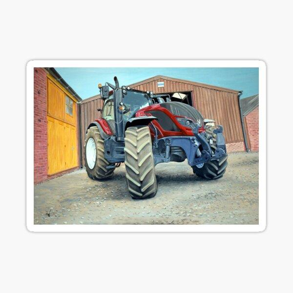 Tracteur rouge Sticker