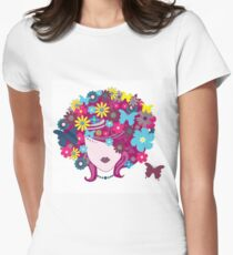 Funky Butterfly and Flower Hair T-Shirt