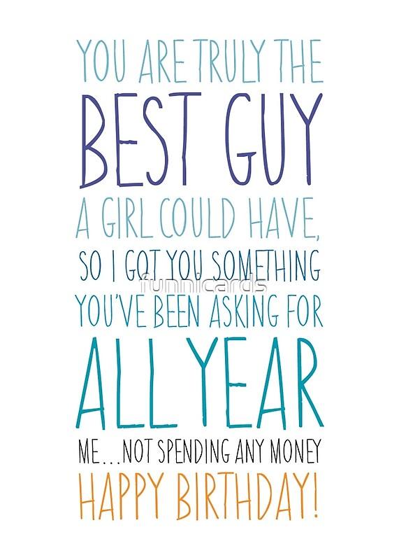 """funny birthday card for boyfriend or husband"""" greeting cards by, Birthday card"""