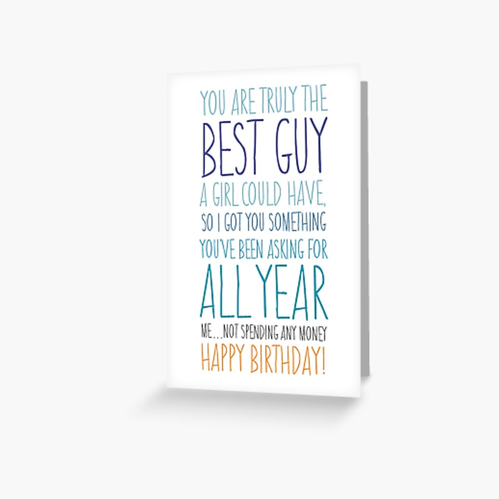 Funny Birthday Card for Boyfriend or Husband Greeting Card