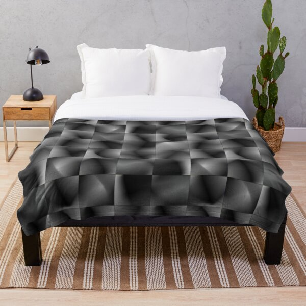Disrupted Perspective Contemporary Camouflage Throw Blanket