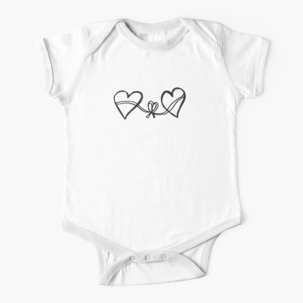 Hearts connection Short Sleeve Baby One-Piece