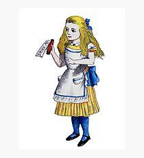 Alice 'Drink Me' Photographic Print