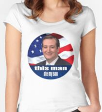 Ted Cruz is a monster 2016 Women's Fitted Scoop T-Shirt