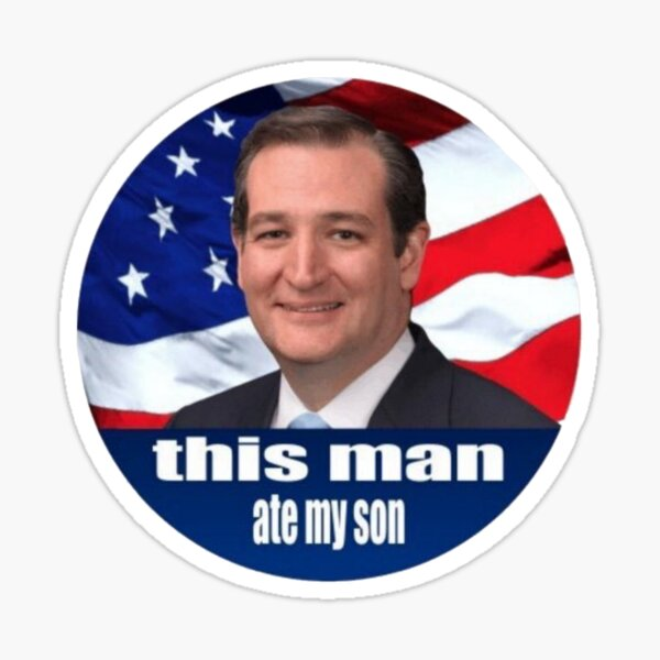 Ted Cruz is a monster 2016 Sticker