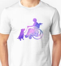 Woman and Assistance Dog Unisex T-Shirt