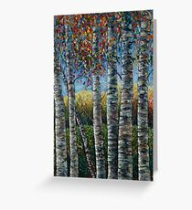 Rocky Mountain High (Palette Knife) by Lena Owens/OLena Art Greeting Card