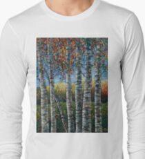 Rocky Mountain High (Palette Knife) by Lena Owens/OLena Art Long Sleeve T-Shirt