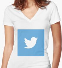 Twitter Women's Fitted V-Neck T-Shirt