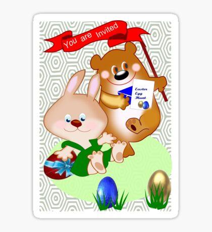 Invitation to Easter egg hunt (2716 views) Sticker