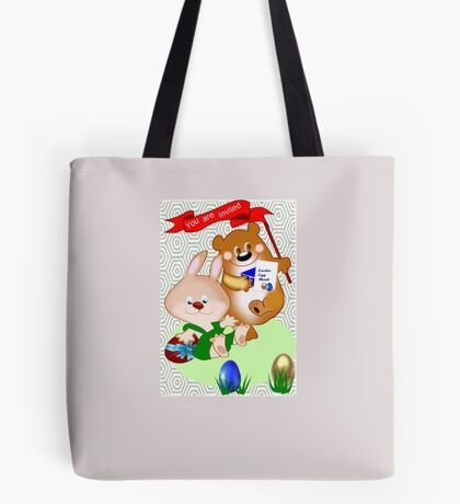 Invitation to Easter egg hunt (2475 views) Tote Bag